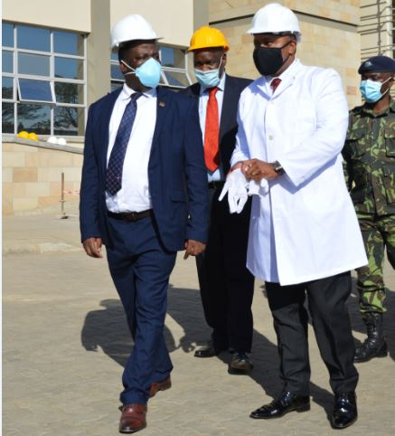 VICE PRESIDENT VISITS MBS NEW LABORATORY AND OFFICE COMPLEX